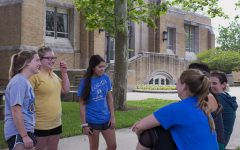 FEATURE PHOTO: Talking with friends beforeclass