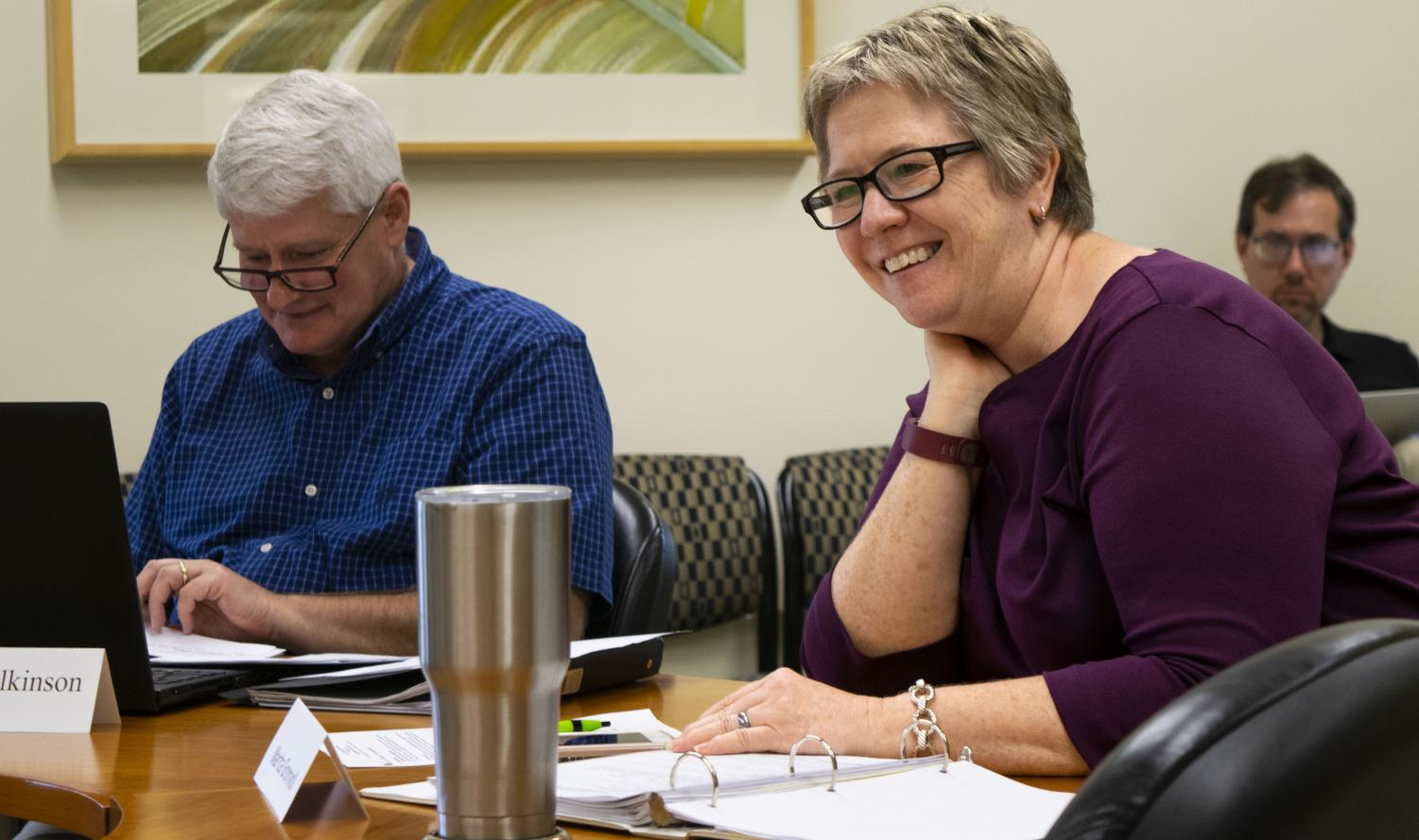 Marita Gronnvoll is the Council on Academic Affairs chair and a communication studies professor. The CAA met on Thursday at 2 p.m. in room 4440 of Booth Library.