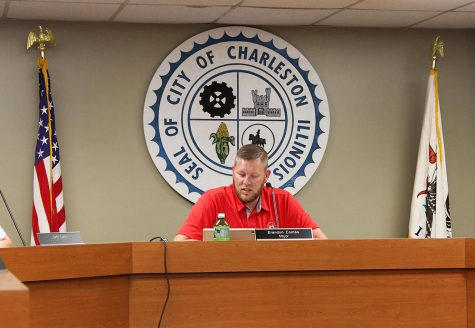 Charleston Mayor Brandon Combs, during the City Council meeting Tuesday night at City Hall