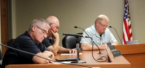 Members of the City Council during the meeting Tuesday night at City Hall.