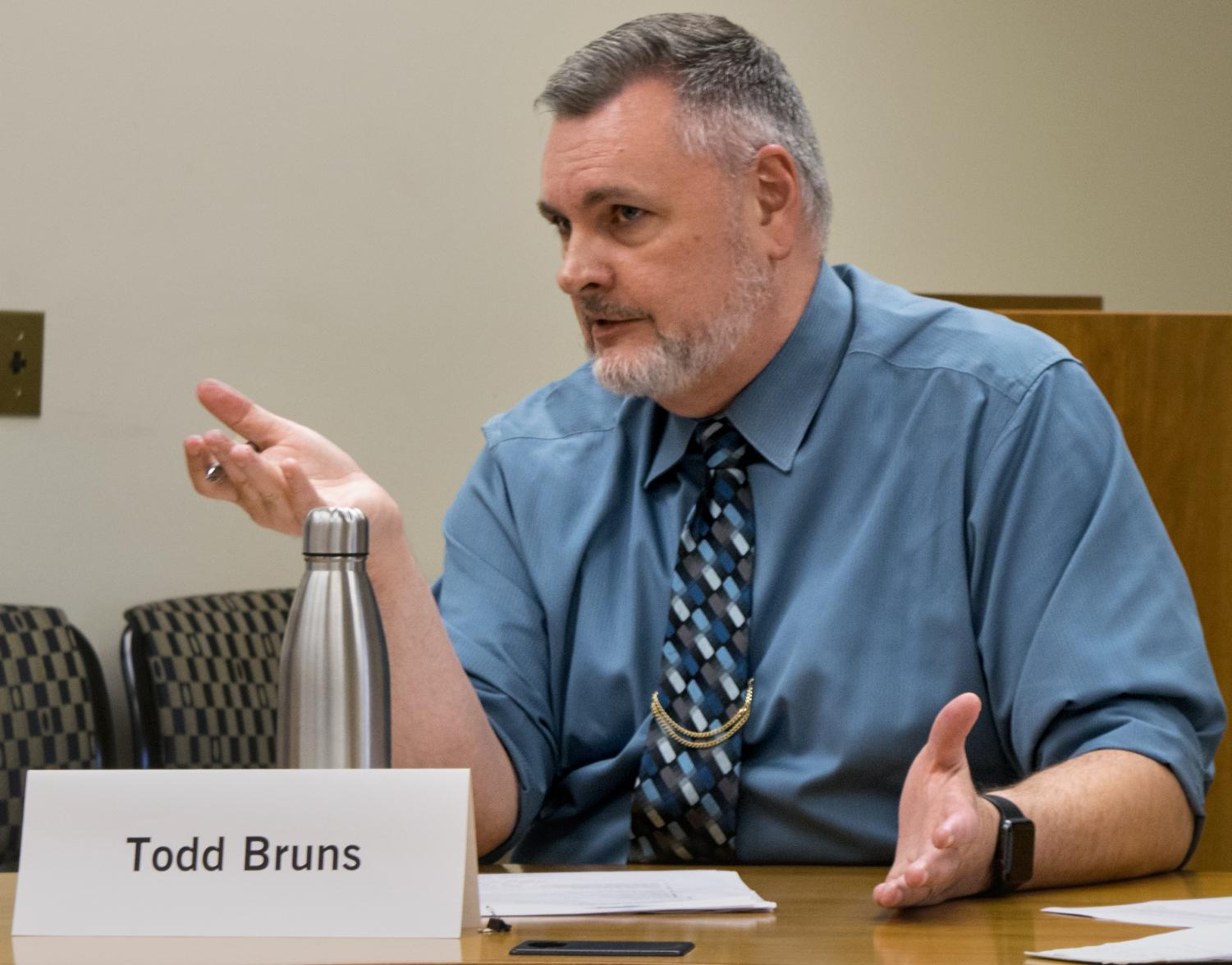 Todd Bruns is the Faculty Senate chair and the scholarly communication librarian and institutional director. The Faculty Senate met Tuesday at 2 p.m. in room 4440 of the Mary J Booth Library.