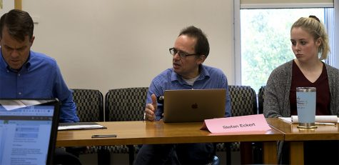 Stefan Eckert is a Faculty Senate member and a music theory professor. The senate meets every other Tuesday at 2 p.m. in room 4440 of Booth Library.