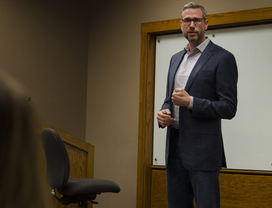 Illinois State Treasurer Michael Frerichs spoke to students, faculty and community members Friday during his visit to Eastern. The Political Science Association hosted the event and invited Frerichs to come.