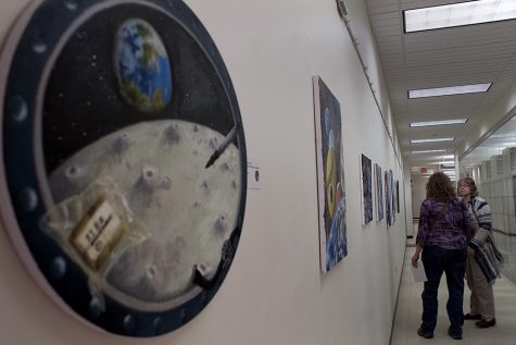 Reception held to honor students' artwork