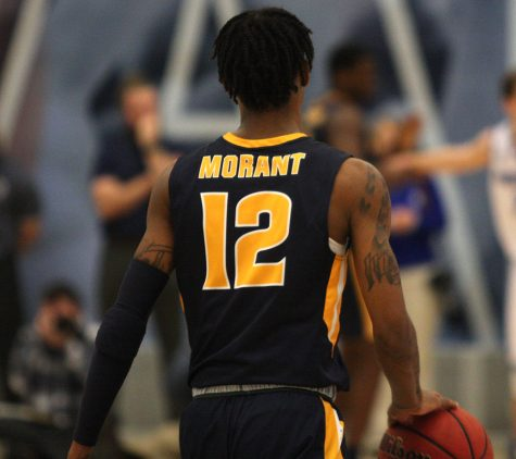 Murray State guard Ja Morant walks up the court in his team's win over Eastern on Jan. 17. Morant and Murray State, along with Belmont from the OVC will compete in the NCAA tournament this week.