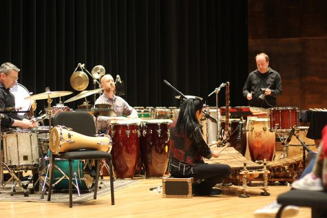 Saturday Night Live percussionist, professors perform African music
