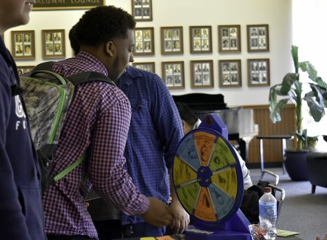 Tarvea Durant, a senior Finance student and the speaker of the student senate, plays the game called The Price is Right during How to Beat the Game of Life event in the Alumni Lounge in the second floor of the Martin Luther King Jr. University Union Tuesday afternoon.