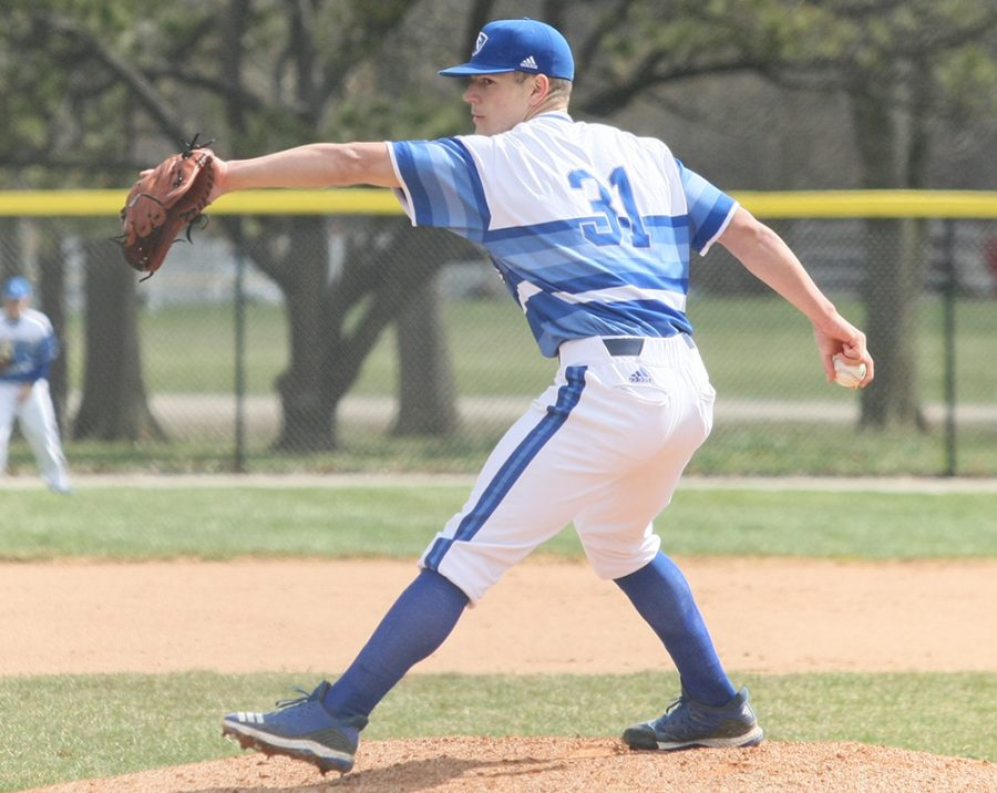 Eastern' Michael YaSenka delivers a pitch in the Panthers' 10-9 loss to Southeast Missouri on March 31. Eastern beat Chicago State 6-3 on Tuesday.