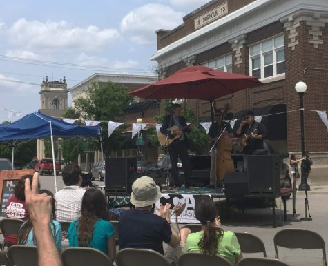 Robbie Fulks, folk singer, sings his song 'Tears Only Run One Way' at the 5th annual Muse Fest at the Charleston Square on June 1.