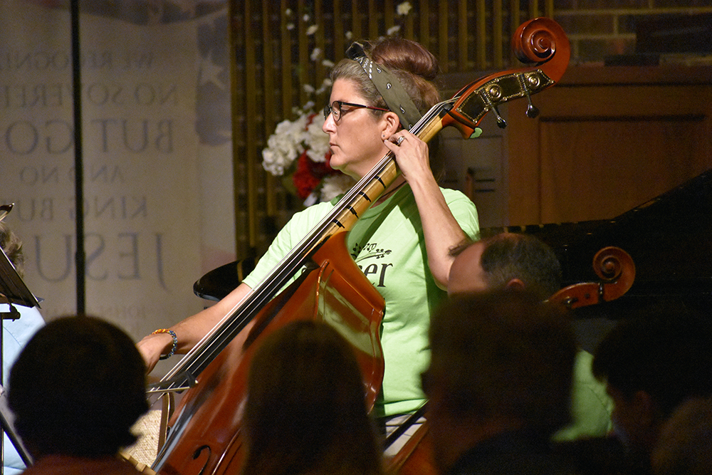 Jennifer Murphy, cellist for the Eastern Symphony Orchestra and the Charleston Summer Strings, performs