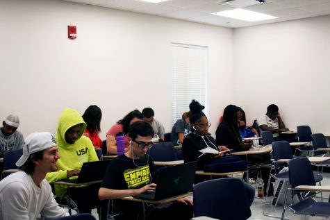 Students take their time and study during the day at the Student Success Center Monday.