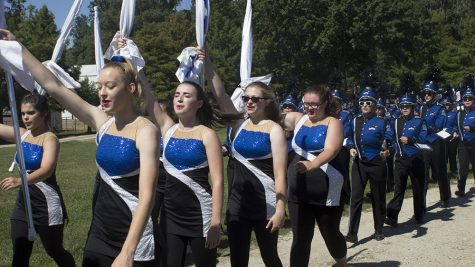 Band puts on pleasing performance at football game