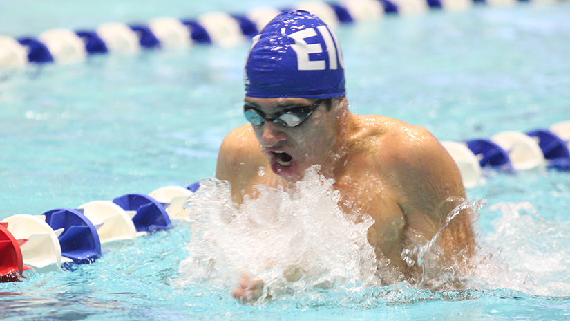 Eastern+sophomore+Jarod+Farrow+swims+in+a+meet+against+Saint+Louis+last+October+in+Lantz+Arena.+The+Panthers+compete+on+the+road+at+Indiana+State+Dec.+7.+