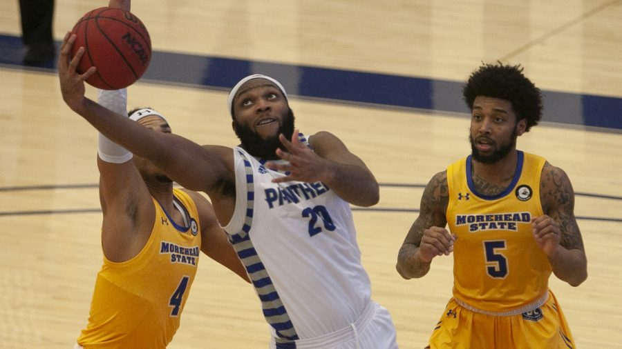 Eastern forward Sammy Friday IV attempts a layup from beneath the basket in a game against Morehead State Jan. 14. Friday had 8 points and 5 rebounds in the game, an 87-61 loss for the Panthers.