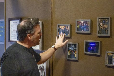 Doug West, owner of Breakout Escape Games has photos of other escape rooms he has particpated in on display at his escape room.